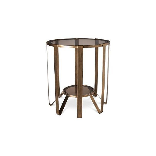 Nate Berkus Round Glass Cage Table