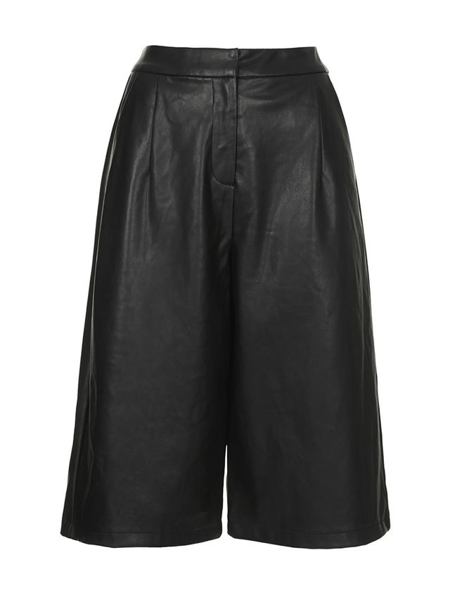 Topshop Leather-Look Culottes