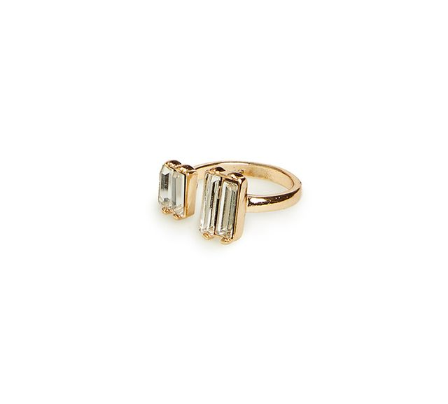 DAILYLOOK Double Crystal Wrap Ring