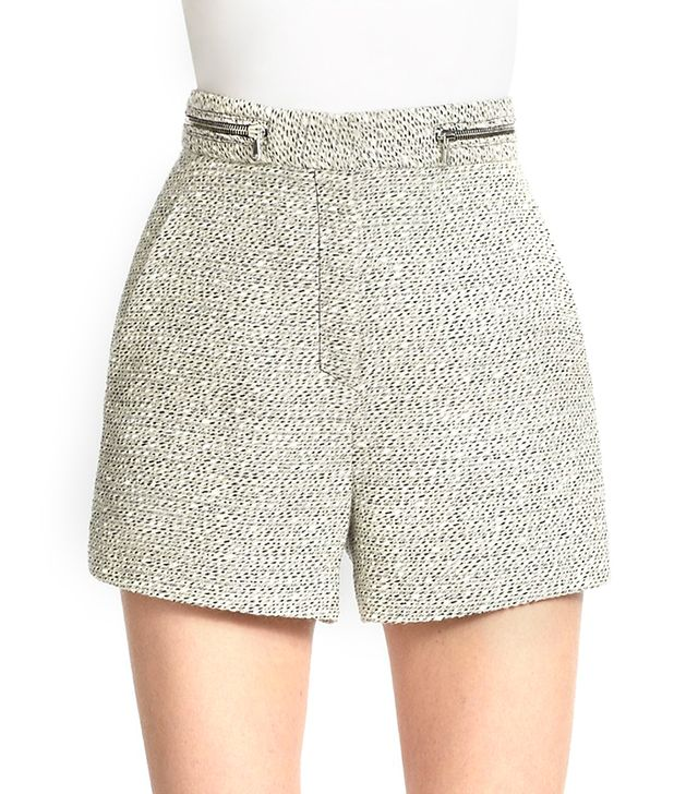 Proenza Schouler High Waisted Tweed Shorts