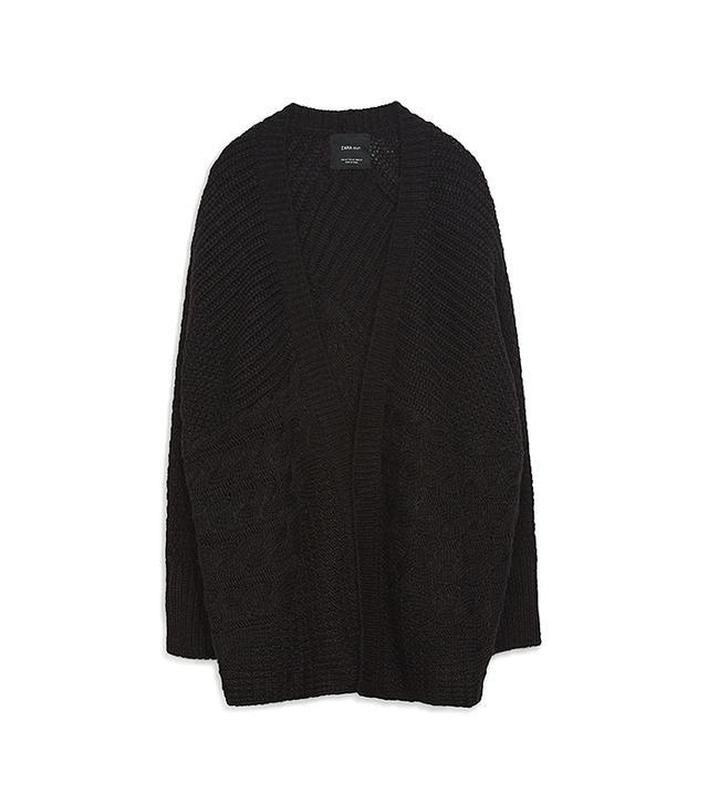 Zara Oversize Cable Knit Cardigan