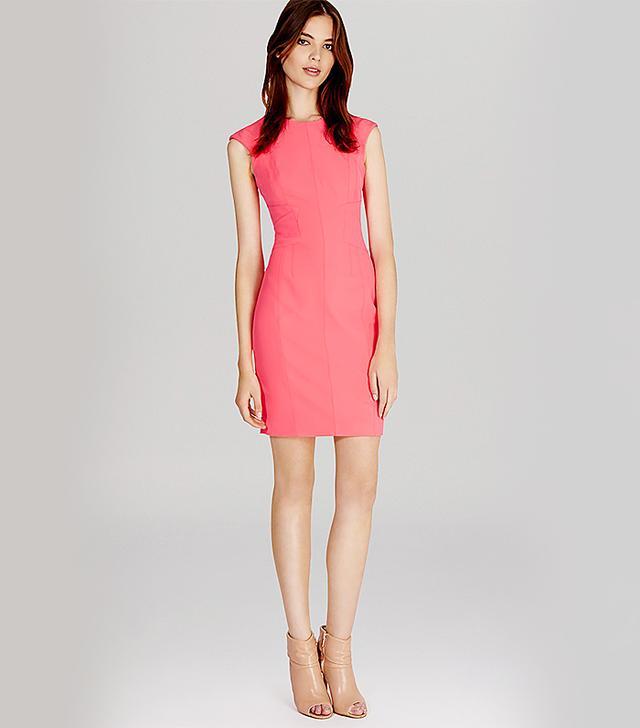 Karen Millen Neon Scuba Dress