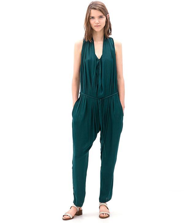 Zara Draped Front Jumpsuit