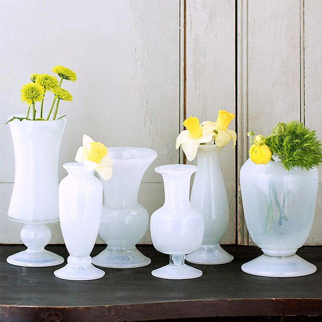 Terrain Frosted Glass Vase Collection
