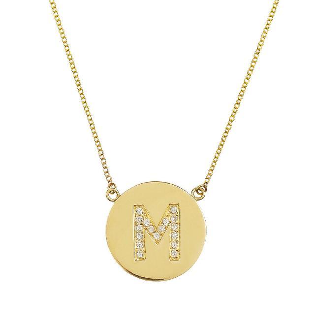 Jennifer Meyer 18-Karat Gold Diamond Letter Necklace