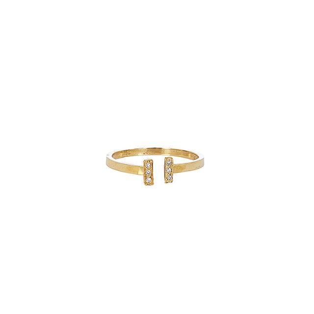Loren Stewart Pavé Diamond & Gold Adjustable Ring