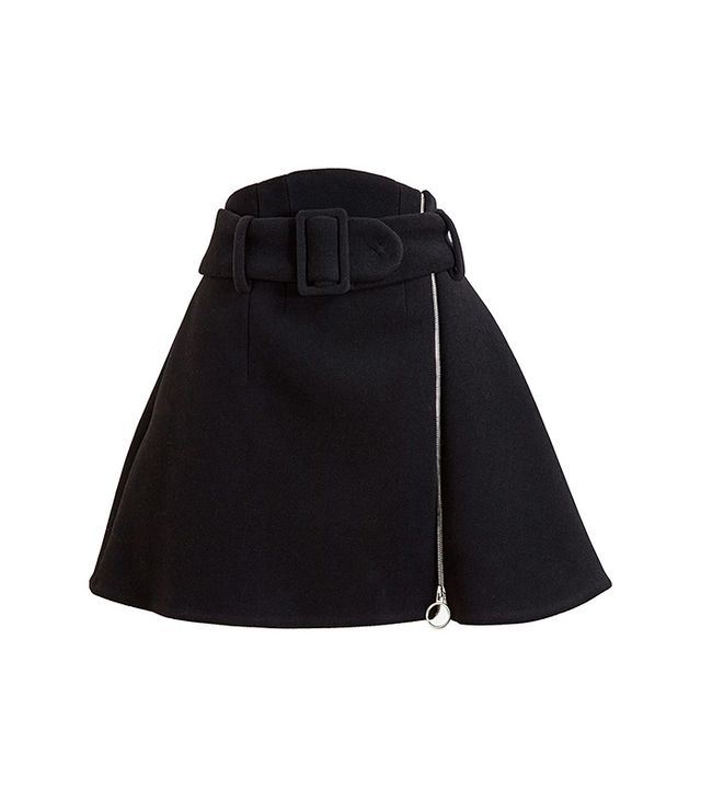 Carven A-Line Wool Skirt
