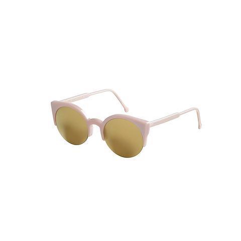 Lucia Pussycat Round Cat-Eye Sunglasses