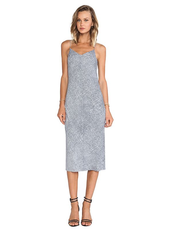 T by Alexander Wang Silk Georgette Slip Dress