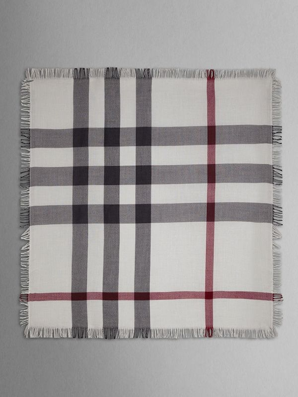 Burberry Check Wool Square Scarf