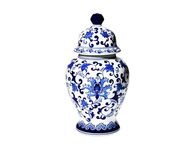 Williams-Sonoma Porcelain Lidded Temple Jar