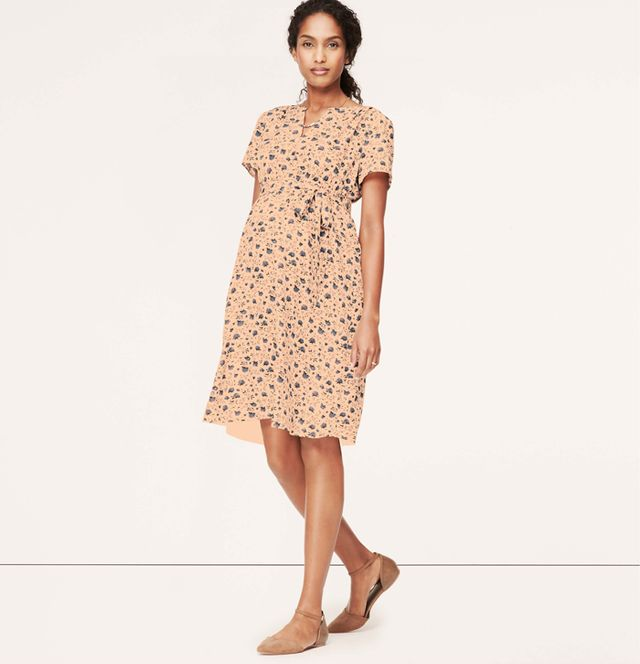 Loft Maternity Floral V-Neck Dress