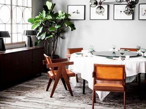 Get the Look: Cool Gray Dining Room