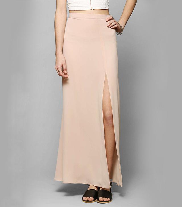 d.RA Cara Slit-Front Maxi Skirt