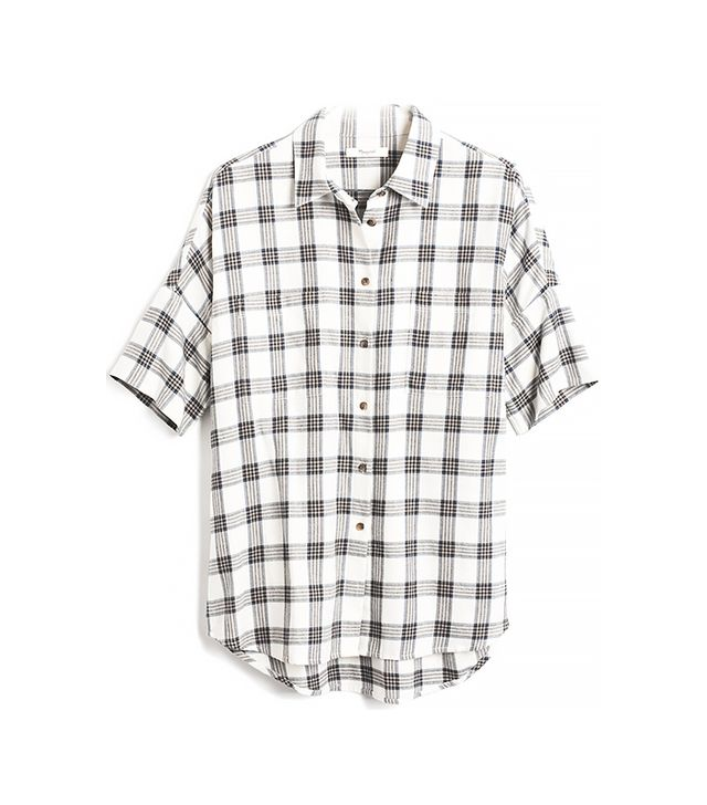 Madewell Flannel Courier Shirt in Blueridge Plaid
