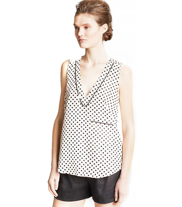 Marc by Marc Jacobs Block Print Silk Top