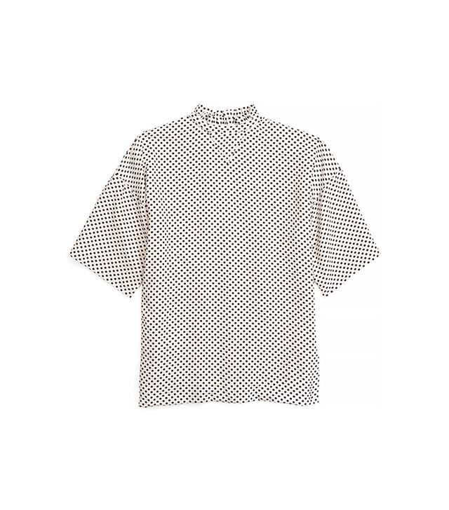 Coach Dot Ruffle Neck T-Shirt