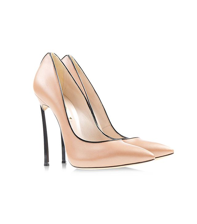 Casadei Closed Toe Nude Pumps