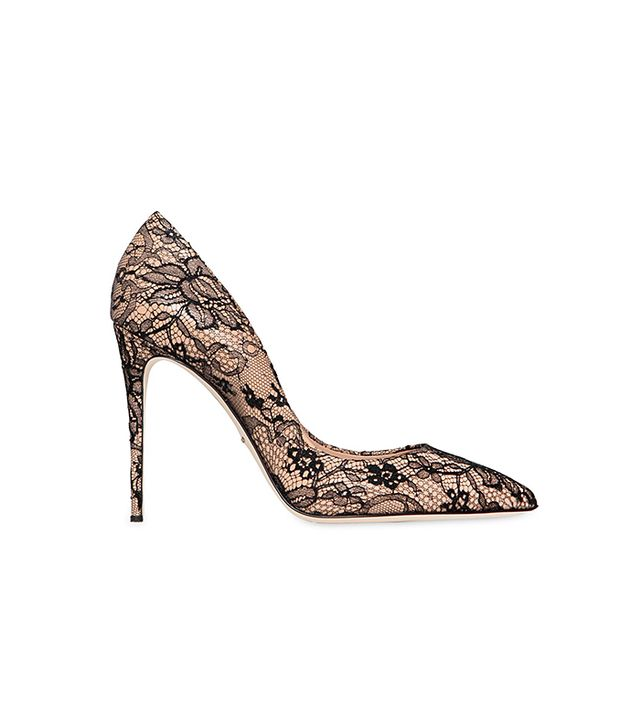 Dolce & Gabbana,Valentino Patent Leather & Lace Pumps