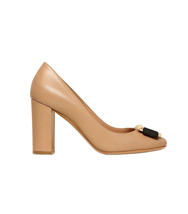 Salvatore Ferragamo,Valentino Ninna Leather Pumps