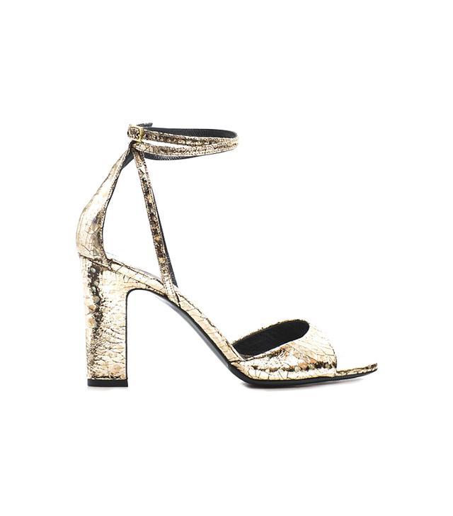 Tamara Mellon Studio Platnum Sandals