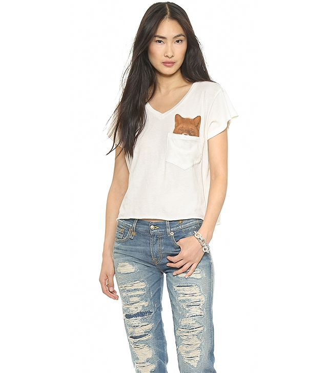 Wildfox Pocket Fox Tee