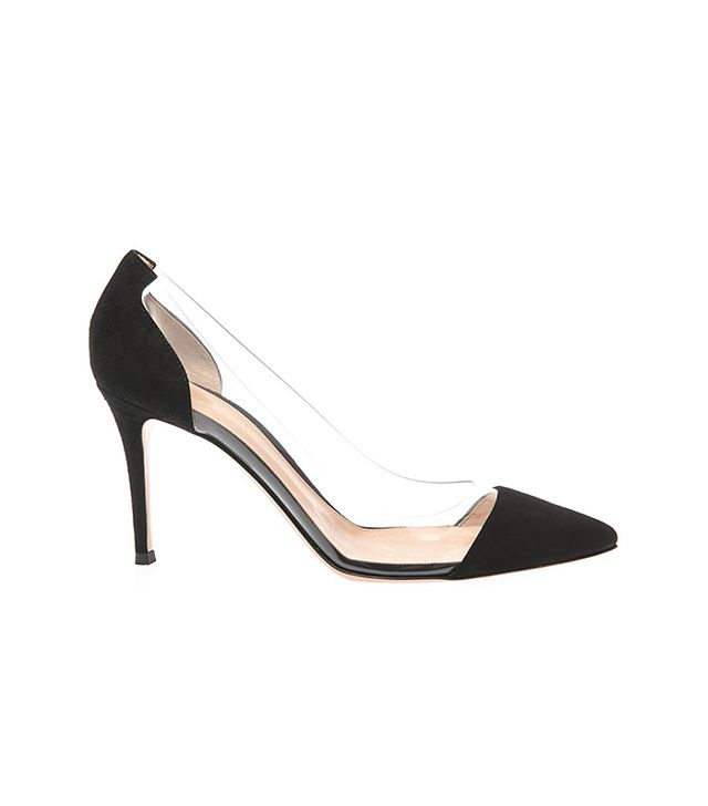 Gianvito Rossi Plexi Suede and PVC Pumps