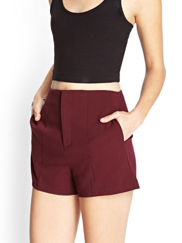 Forever 21 Paneled Woven Shorts