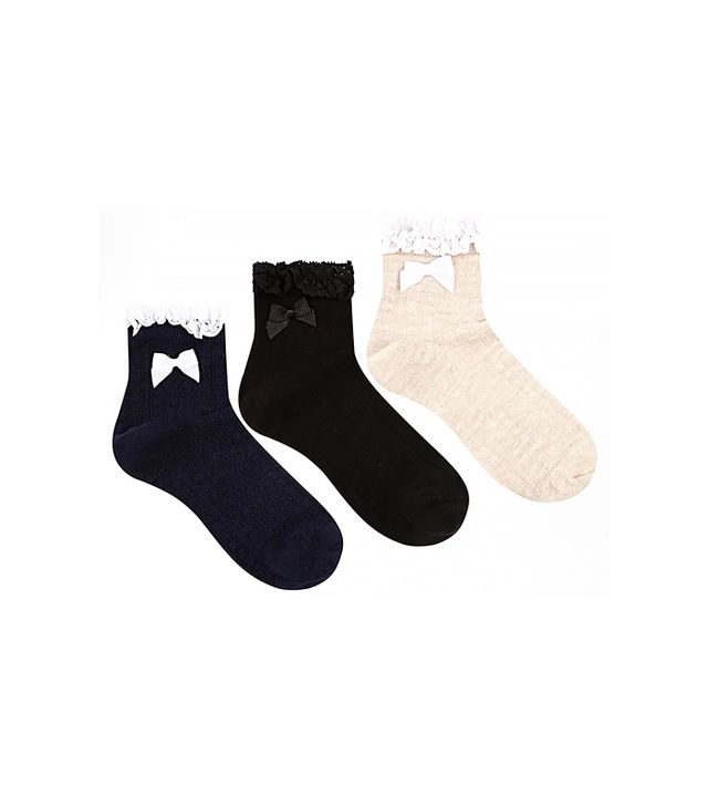 Oasis Three Pack Frill Socks