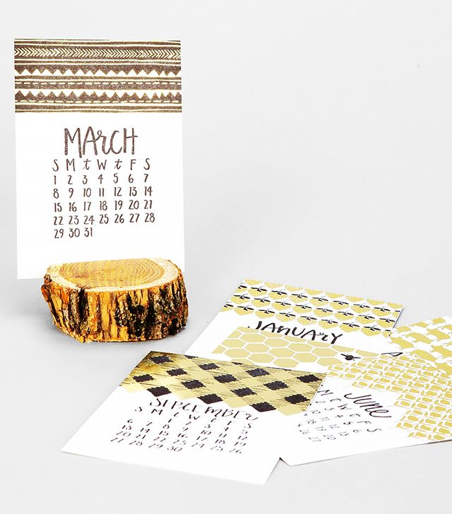 One Canoe Two 2015 Letterpress Stump Calendar