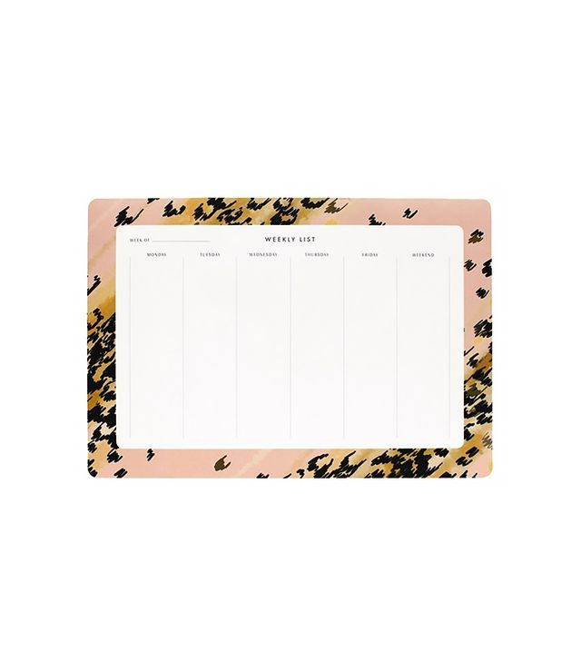 Rifle Leopard Weekly Desk Pad