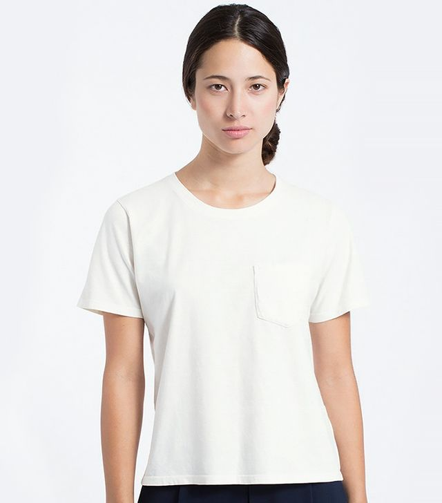 Everlane The Cotton Box Cut in Salt