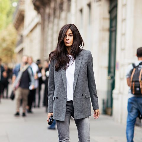 Blazer ankle boots street style