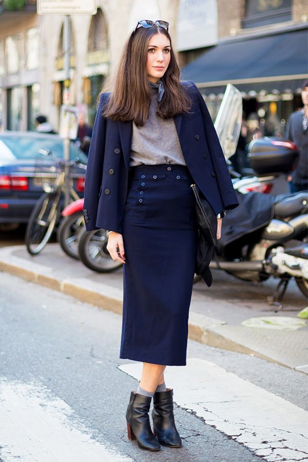 Skirt Suit + Neckerchief + Socks + Zip-Up Boots