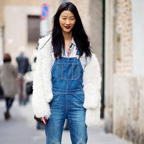 Overalls ankle boots street style