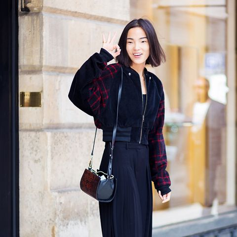 Jacket trousers ankle boots street style