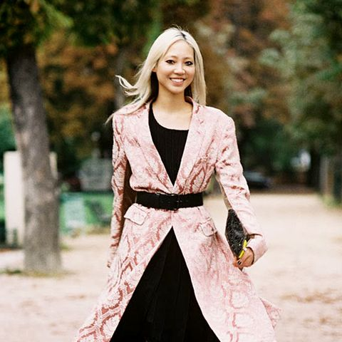 Belted coat ankle boots street style