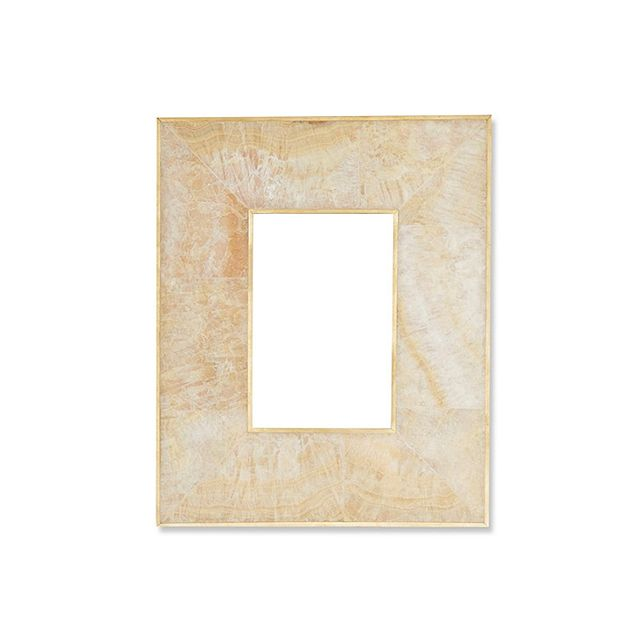 Williams-Sonoma Home Brass Bordered Stone Picture Frame