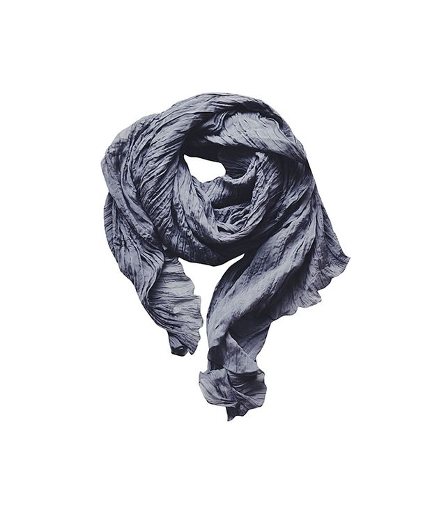 VYVYN Hill x Maja Wyh Grey Silk Wrinkled Scarf
