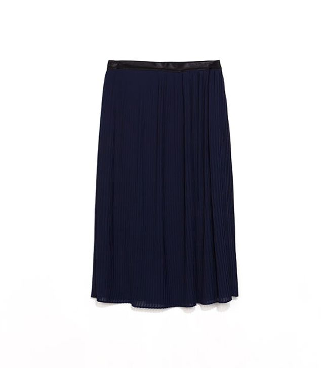 Zara Pleated Skirt With Elastic Waist