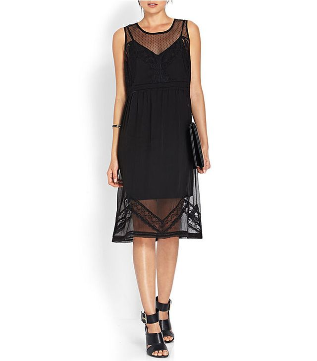 Forever 21 Lace & Mesh Shift Dress
