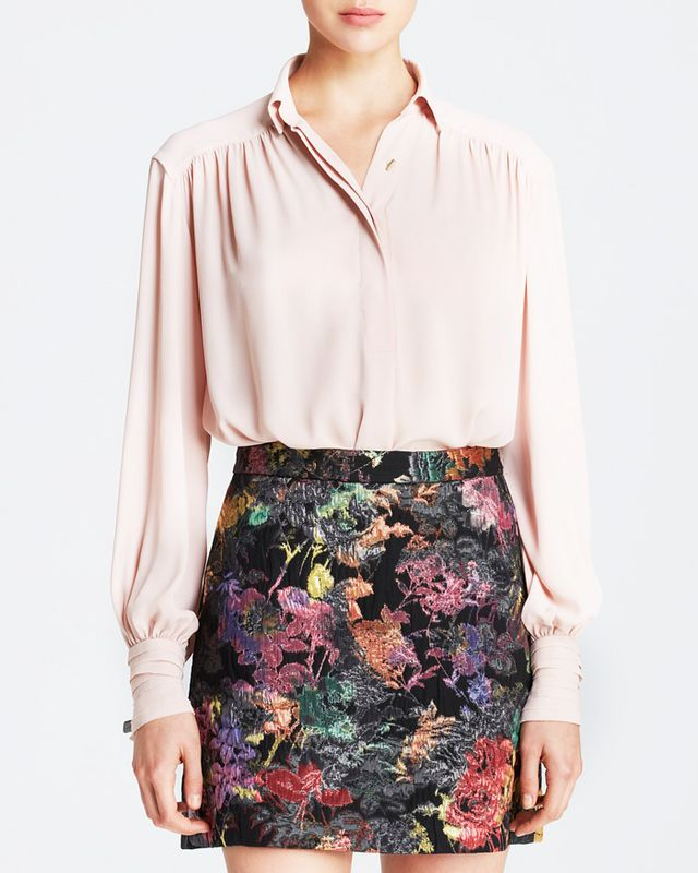 Alice + Olivia Janet High Low Flared Blouse