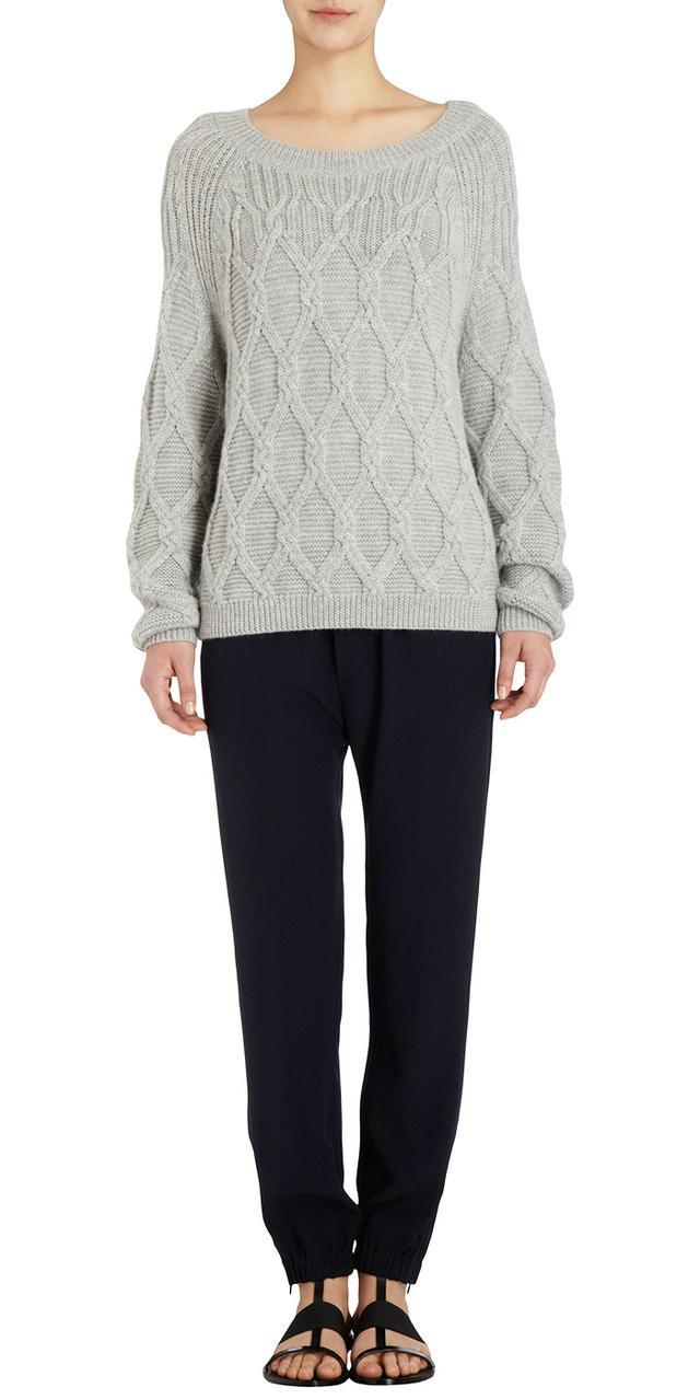 Nili Lotan Cabled Diamond Sweater