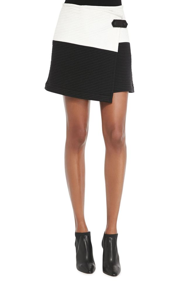 Alice + Olivia Lennon Crossover Asymmetric Skirt