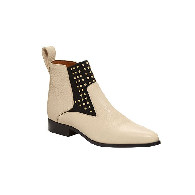 Chloe Studded Leather Chelsea Boots