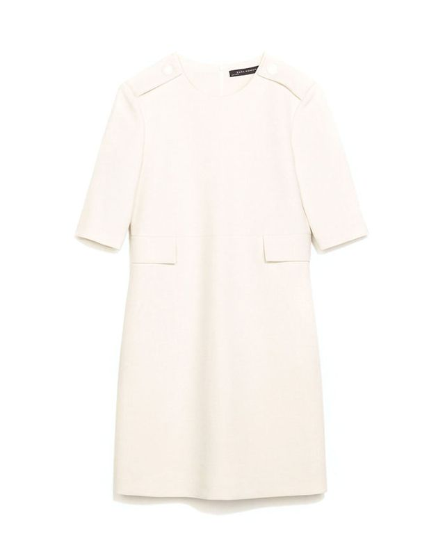 Zara Seamed Dress With Flaps