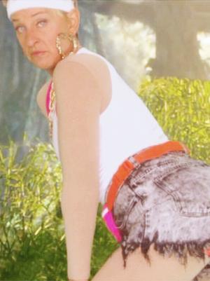 Ellen DeGeneres Spoofs Nicki Minaj's Anaconda Video
