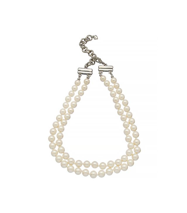 Carolee Two Strand Silver and Pearl Necklace