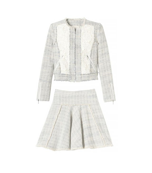 Rebecca Taylor Tweed and Lace Jacket