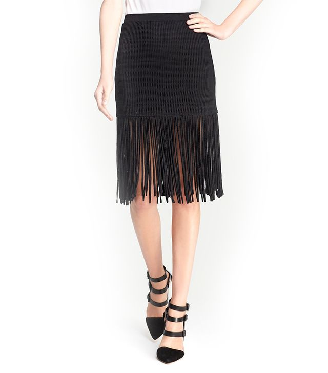 Riller & Fount Fifi Fitted Fringe Skirt
